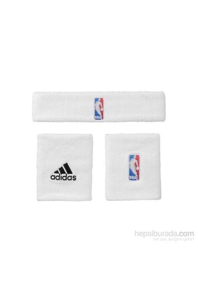 Adidas G87965 Nba Wb+Hb Unısex Basketbol Bileklik Beyaz