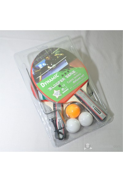 Dynamic 8600 Masa Tenisi Raketi Set (2 Raket + 3 Adet 40mm Top +ağ)
