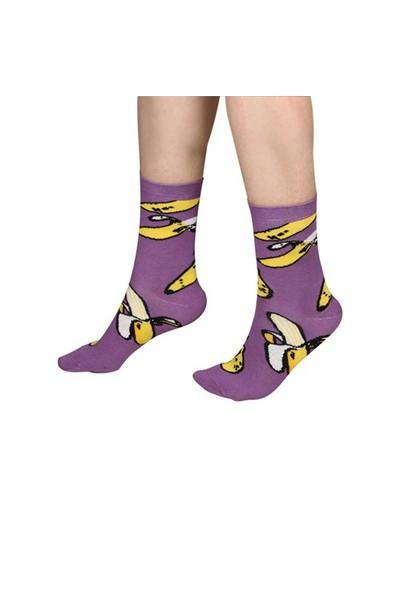 The Socks Company Bananas Desenli Kadın Çorap 36-40 Numara