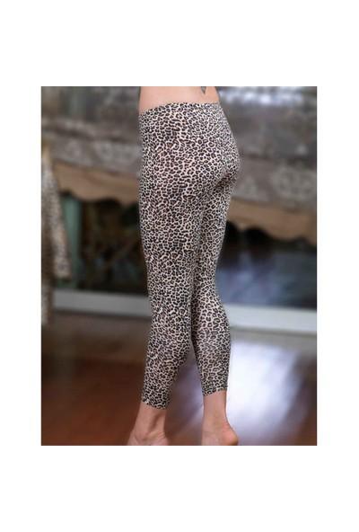 Şahinler Kadın Leopar Uzun Likralı Süprem Tayt MB301