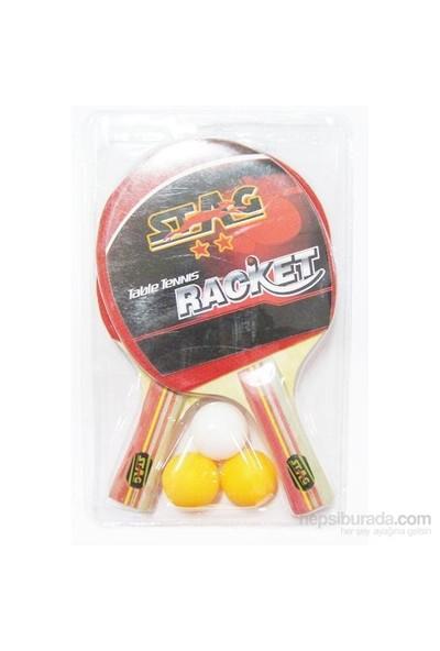 Stag 2 Raket+3 Top Masa Tenisi Seti
