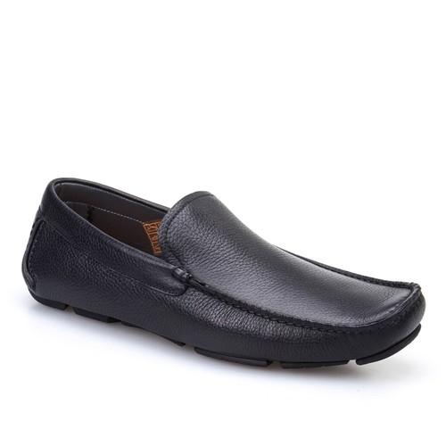 Cabani Makosen Günlük Erkek Ayakkabı Siyah Kırma Deri