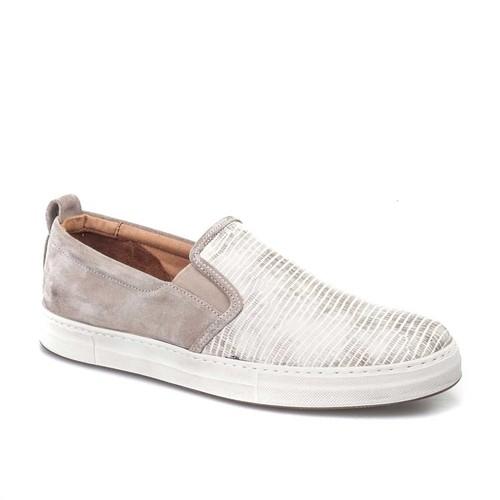 Cabani Günlük Erkek Ayakkabı Bej Croco Deri