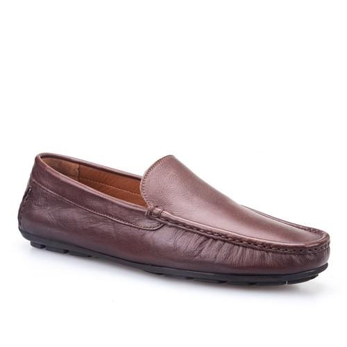 Cabani Makosen Günlük Erkek Ayakkabı Kahve Deri