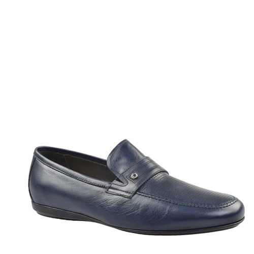 Cabani Makosen Günlük Erkek Ayakkabı Lacivert Picasso Deri