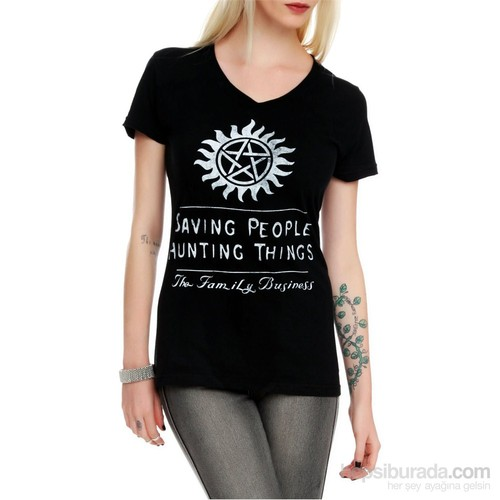 Köstebek Supernatural - Family Business Kadın T-Shirt