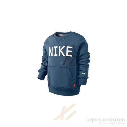 Nike 506800-437 Campus Ft Ls Crew - Lk (Lk) Çocuk Sweat