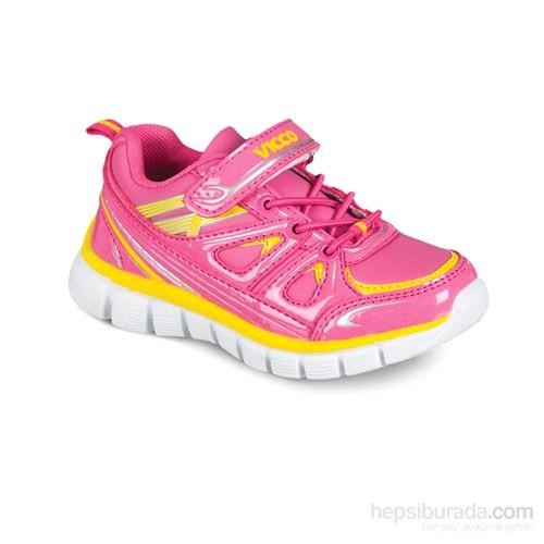 Vicco Cırtlı Kız Spor Ayakkabı Fuşya