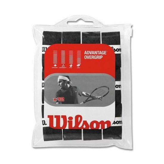 Wilson Advantage Over Grip 12 Li Siyah Tenis Gribi
