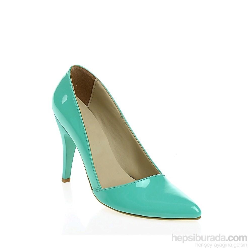 Derigo Kadın Topuklu Ayakkabı Su Yeşili