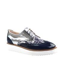 Cabani Oxford Günlük Kadın Ayakkabı Lacivert Rugan