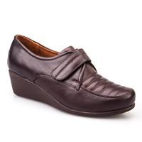 Cabani Cırtlı Günlük Kadın Ayakkabı Kahve Deri