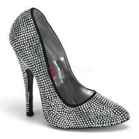 Pleaser Savaroski Taşlı Topuklu Ayakkabı