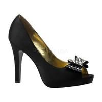 Pleaser Fiyonklu Topuklu Ayakkabı