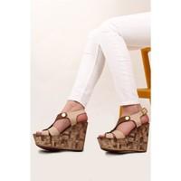 Gön Kadın Sandalet 10305 Bej