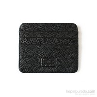Leather&Paper Siyah Deri Kredi Kartlık