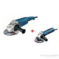 Bosch GWS 21-180 + Bosch GWS 7-115 Taşlama Seti
