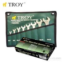 Troy 21508 Açık Ağız Anahtar Takımı - 8 Parça (6-22Mm)