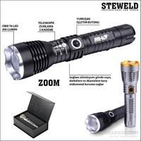 Steweld 620B Pro 300 Lümen Zoomlu Led El Feneri -Siyah