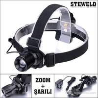 Steweld 521R Şarjlı Ve Zoomlu Led Kafa Lambası 120 Lümen
