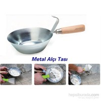 Toolux Ahşap Sap Metal Alçı Tası 090892