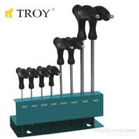 Troy 22308 Allen Anahtar Seti (T-Saplı)