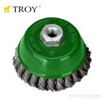 Troy 27707-75 Burma Telli Çanak Fırça (75Mm)