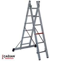 Çağsan 2x6 Basamaklı İki Parçalı Çok Amaçlı Alüminyum Merdiven