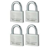 Master Lock 9130 Alüminyum Asma Kilit 4'Lü Set 30Mm