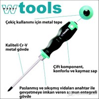 Weber Tools Yıldız Uçlu Tornavida Ph1 X 80 Mm Somunlu Gövde Ve Metal Tepeli