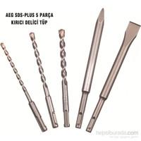 Aeg Sds-Plus 5 Parça Kırıcı Delici Tüp