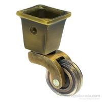 Burak Teker Pirinç Tekerlek Antik Kaplamalı Kare Gövde 031 K BUA