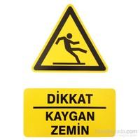 "İzmir Serigrafi Pvc Levha ""Dikkat Kaygan Zemin"""