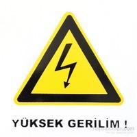 """İzmir Serigrafi Pvc Levha """"Yüksek Gerilim"""""""