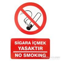 """İzmir Serigrafi Pvc Levha """"Sigara İçmek Yasaktır"""""""