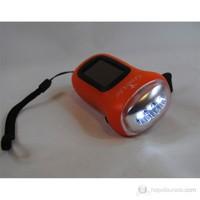 Greenlife Dinamolu+Solarlı 3 LED'li Fener