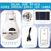 Güneş Enerjili Şarjlı Kumandalı 12 Led Ampül Lamba