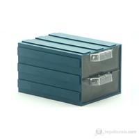 Sançelik 202-2 Plastik Çekmeceli Kutu (12 Adet)