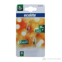 Ecolite G4 Kapsül Halojen Ampul 12V 20W Sarı Işık