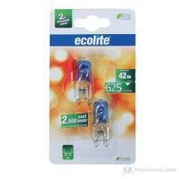Ecolite G9 Enerji Tasarruflu Kapsul Halojen Ampul 42W Sıcak Beyaz Işık