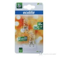 Ecolite G9 Enerji Tasarruflu Kapsul Halojen Ampul 42W Sarı Işık