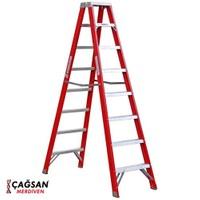 Çağsan A Tipi Çift Tarafı Geniş 8 Basamaklı Fiberglas Merdiven