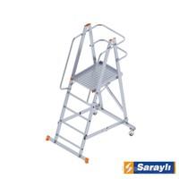 Saraylı Katlanabilir Tekerlekli Platform Merdiven 81042