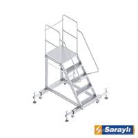 Saraylı Ayarlanabilir Ayaklı Tek Çıkışlı Platform Merdiven8704