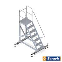 Saraylı Ayarlanabilir Ayaklı Tek Çıkışlı Platform Merdiven 8706
