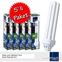 Müller Licht 13W/840 4 pinli Enerji Tasarruflu PLC - 5'li Paket