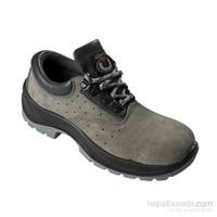 Tuğbasan-Gri- Koruyucu Süet Deri Ayakkabı-Çelik Burunlu-39 Numara