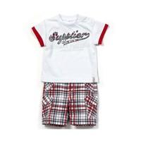 Zeyland Erkek Çocuk Beyaz Desenli T-Shirt-Şort Takım - K-61M1MBA76