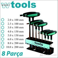 Weber Tools T Saplı Allen Anahtar Seti 8 Parça (Metrik)