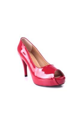 Loggalin 580601 031 559 Kadın Kırmızı Rugan Platform Ayakkabı